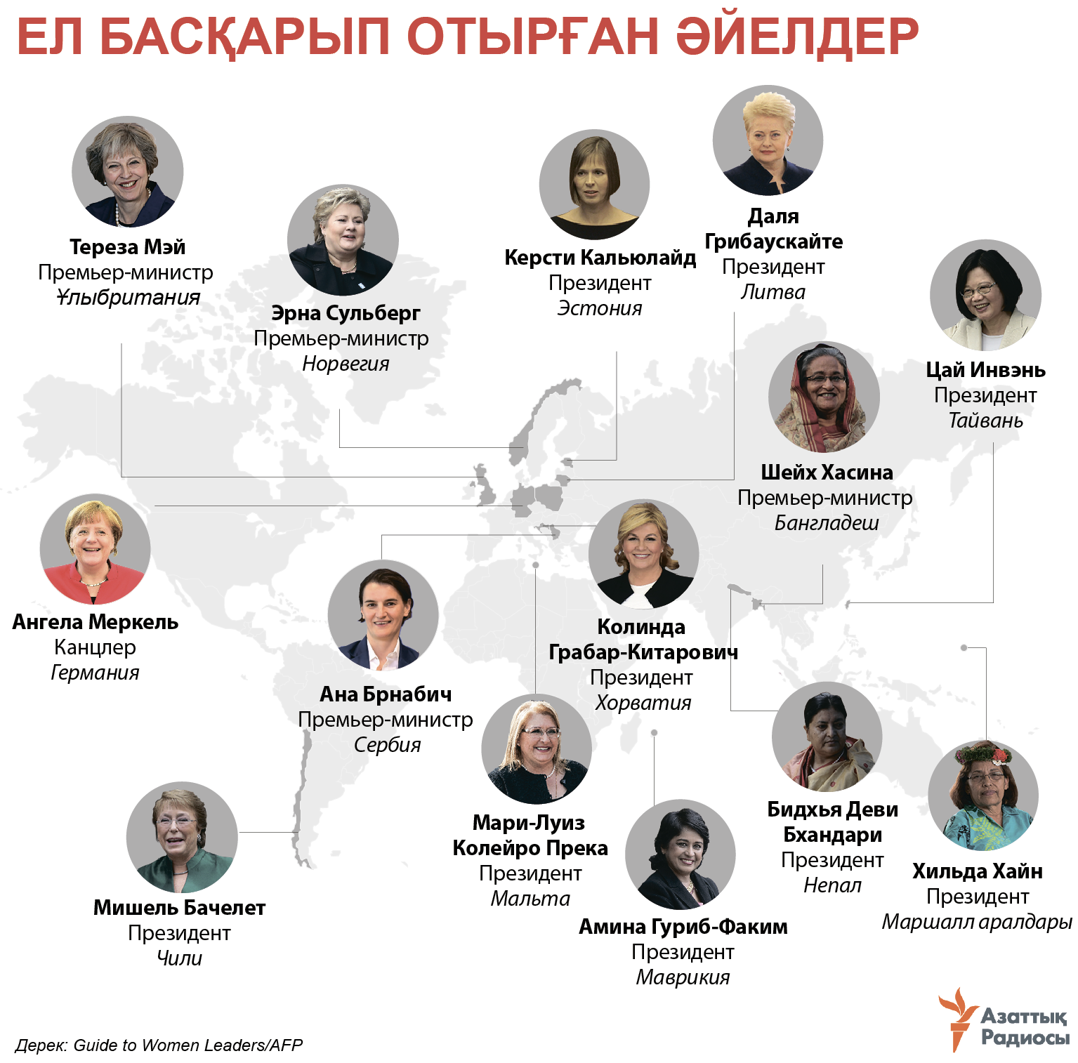 infographic about female leaders