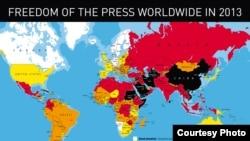 الاسود الاسوأ للعمل الصحفي الاحمر الاصعب للعمل الصحفي