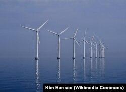 Ветряная электростанция в Дании
