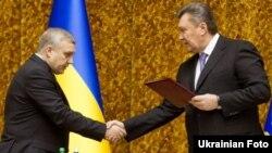 Александр Якименко и Виктор Янукович. Киев, 10 января 2013 года.