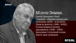 Мілош Земан. Досьє з фільму «Чеські друзі Кремля»