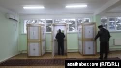 Избирательный участок в Туркменистане.