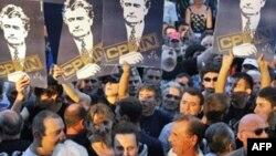 Demonstracije zbog hapšenja Radovana Karadžića, 29.07. 2008. u Beogradu