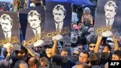 Serbian ultranationalists took to the streets -- but not in great numbers.