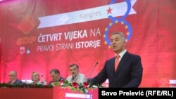 Milo Djukanovic na osmom kongresu SDP