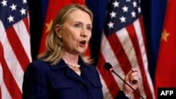 Госсекретарь США Хиллари Клинтон во время визита в Китай