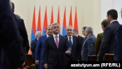 Armenia - President Serzh Sarkisian meets with senior government officials and other political allies, Yerevan, 7Dec2015