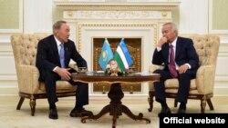 Назарбаев жана Каримов. Ташкен, 15-апрель, 2016-жыл.