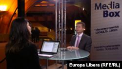 Oleksii Gonciarenko în dialog cu Iolanda Bădiliță la Strasbourg