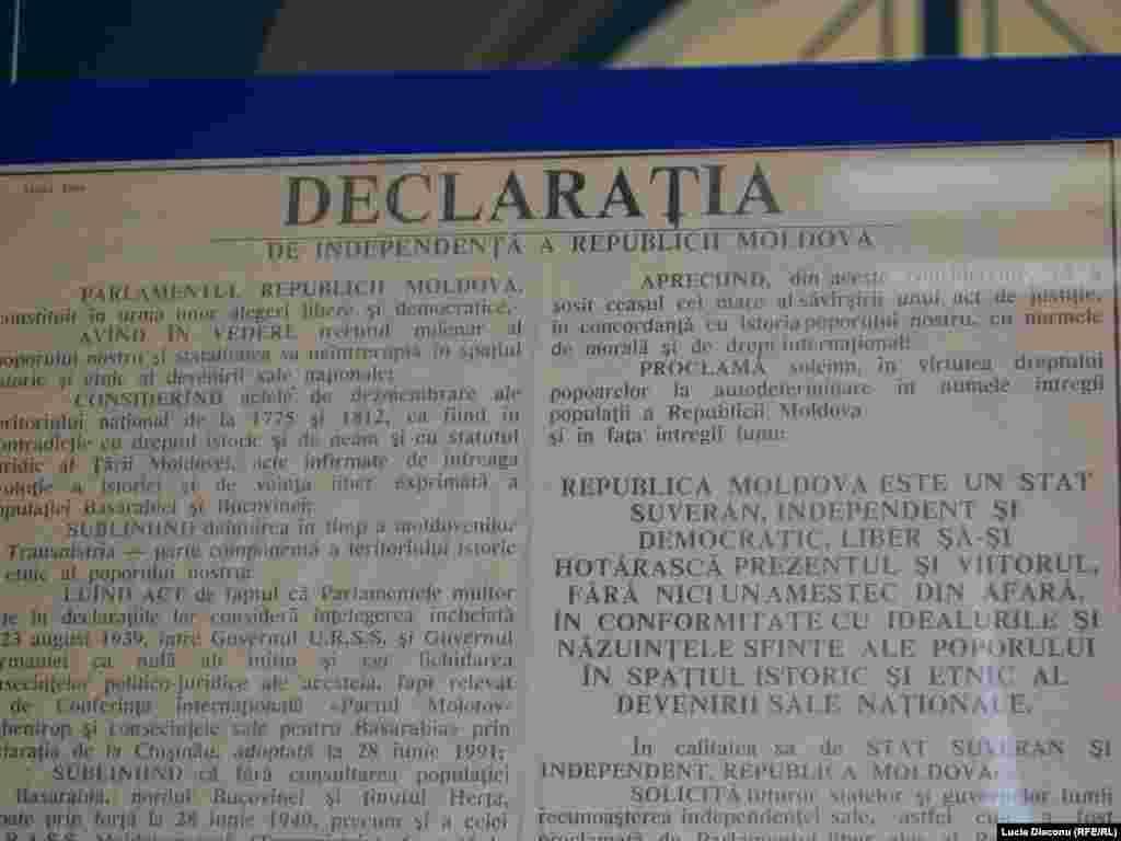 Declaraţia de independenţă a Republicii Moldova