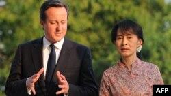Дејвид Камерон и Аунг Сан Су Ки