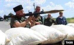 Пост сепаратистов в Луганской области