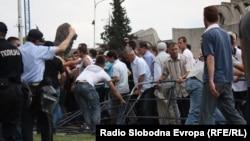 Протести на Албанци против полициската операција Монструм на 11 мај 2012 во Скопје.