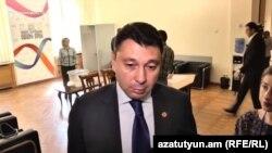 Вице-спикер парламента Армении, пресс-секретарь Республиканской партии Армении Эдуард Шармазанов, Ереван, 12 сентября 2018 г.