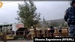 Pamje e autobusit në Vollgograd pas eksplodimit