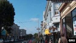 """Знаменитая улица Haight-Ashbury в Сан-Франциско, """"колыбель"""" движения хиппи"""