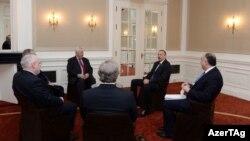 Ադրբեջանի նախագահի հանդիպումը ԵԱՀԿ Մինսկի խմբի համանախագահների հետ, արխիվ