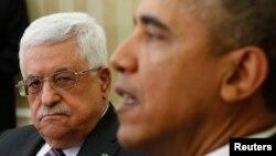 Американскиот претседател Барак Обама со палестинскиот лидер Махмуд Абас