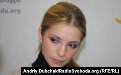 Євгенія Карр (Тимошенко) у студії Радіо Свобода у листопаді 2011 року