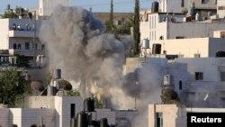 Палестина елді мекеніндегі түтін. (Көрнекі сурет)