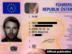 Знаменитые водительские права Нико Альма
