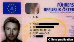 Niko Alm - photo driving-license
