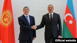 Azerbaijan - Persidents Ilham Aliyev of Azerbaijan and Almazbek Atambayev of Kyrgyzstan meet in Gabala, 15Aug2013