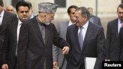 دیدار وزیر دفاع آمریکا با رییس جمهوری افغانستان در کابل