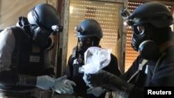 سازمان منع کاربرد جنگافزار شیمیایی تائید کردهاست که در حمله خانشیخون از گاز سارین استفاده شده، اما تعیین عامل استفاده از آن برعهده «مکانیسم مشترک تحقیقاتی» است