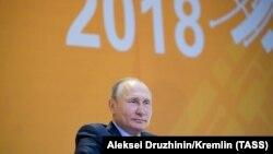 6 марта 2018. Владимир Путин на VI Всероссийском форуме рабочей молодежи