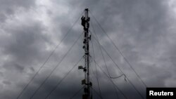 Работы на линии связи. Иллюстративное фото.