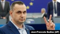 Олег Сенцов у Європейському парламенті. Страсбург, 26 листопада 2019 року