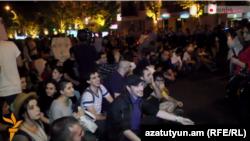 Акция протеста в Ереване, 27 мая 2015 г.