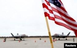 Американские военные самолеты на военной базе Амари в Эстонии