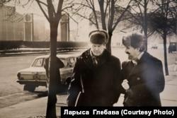 Васіль Быкаў і Яўген Глебаў