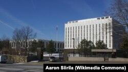 Посольство России в Вашингтоне на Висконсин-авеню.