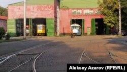 Алматыдағы трамвай депосы (Көрнекі сурет).