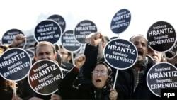 Թուրքիա - «Մենք բոլորս Հրանտ ենք, բոլորս հայ ենք» կարգախոսով ցույց Ստամբուլում՝ Հրանտ Դինքի սպանության 8-րդ տարելիցի կապակցությամբ, 19-ը հունվարի, 2016թ․