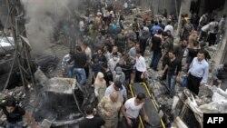 Pamje pas shpërthimit të sotëm në Damask