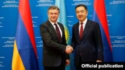 Հայաստանի և Ղազախստանի վարչապետերի հանդիպումը Աստանայում, 14-ը օգոստոսի, 2017թ․