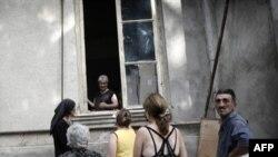 ახალგორელი ქართველები და ოსები ჰუმანიტარული დახმარების მოლოდინში