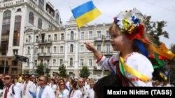 Під час відзначення Дня Незалежності України. Київ, 24 серпня 2014 року