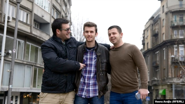 Mladi iz Preševa u poseti Beogradu, februar 2013.