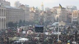 Майдан у Києві святкує Різдво, 7 січня 2014 року