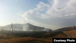 Пожар в Ленинском районе