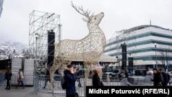 Grad je ukrašen i spreman za turiste za proslavu Nove godine