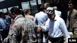 تصویری که خبرگزاری ایلنا پس از این حادثه منتشر کرد