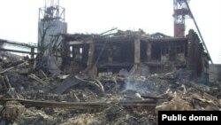 """Так ныне выглядит шахта """"Енакиевская"""" в Донбассе."""