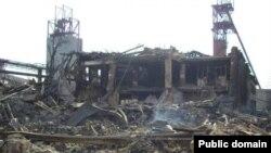 Донбастағы «Енакиевская» шахтасының қазіргі жағдайы.