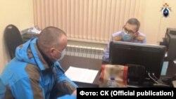 Илья Шульгин на допросе. Фото пресс-службы кировского управления СК